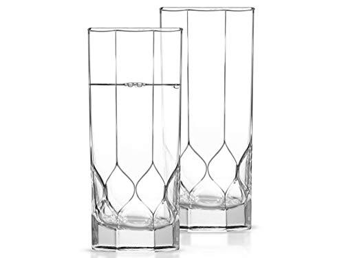 Luminarc Octime Diamond - Juego de 6 vasos altos (310 ml, aptos para lavavajillas), transparente