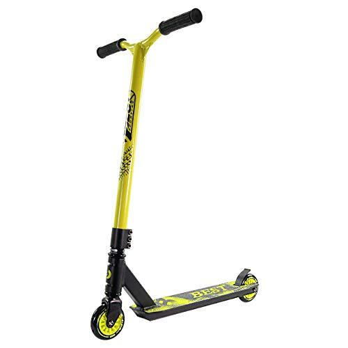 Best Sporting Stunt-Scooter, Tretroller für Akrobatik Freestyle Funscooter schwarz-gelb