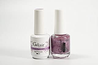Gelixir Duo matching gel and nail polish, Made in USA. (095-Purple Spark)