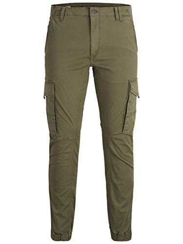 JACK & JONES Male Cargohose Paul Flake AKM 542 3432Olive Night
