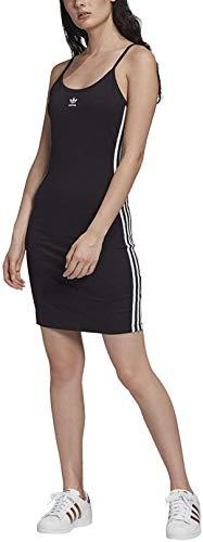 adidas Damen TANK DRESS, black/White, 38