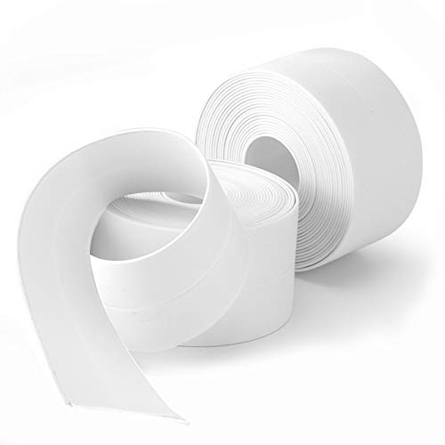 SENKEI Caulk Strip, 2 Pack 1.5' x 10.5Ft Caulk Strip for Bathtub Self Adhesive Caulk Tape Caulking Sealing Tape for Kitchen Countertop,Sink,Bathroom,Toilet,and Bathtub Floor Wall Edge Protector