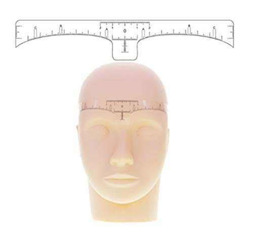 50 Stücke Klar Absolvierte Einweg Selbstklebende Augenbraue Lineal Professionelle Microblading Guide Schablone Aufkleber für Augenbraue Form Design