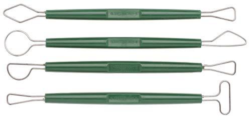 Glorex 6 8076 40 - Modellierschlingen, 4 teiliges Modellierwerkzeug zum Bearbeiten und Gestalten von Skulpturen und Figuren