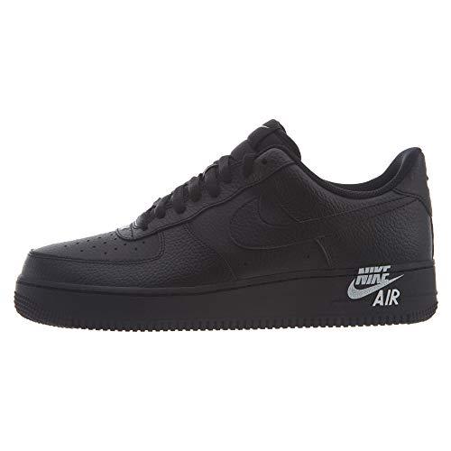 Nike Air Force 1 '07, Zapatos de Baloncesto Hombre, Black/Black-White, 51.5 EU