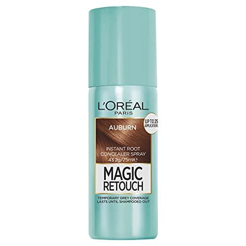 L'Oréal Paris Magic Retouch Temporary Root Concealer Spray - Auburn (Instant Grey Hair Coverage)