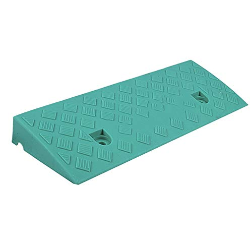 Baiying Rubber Kerb Ramps Foyer Auxiliary Lane Waterproof Platform Wheelchair Steps Waterproof PVC Non-Slip Easy to Transport,4 Sizes (Color : Blue, Size : 48X17X5CM)