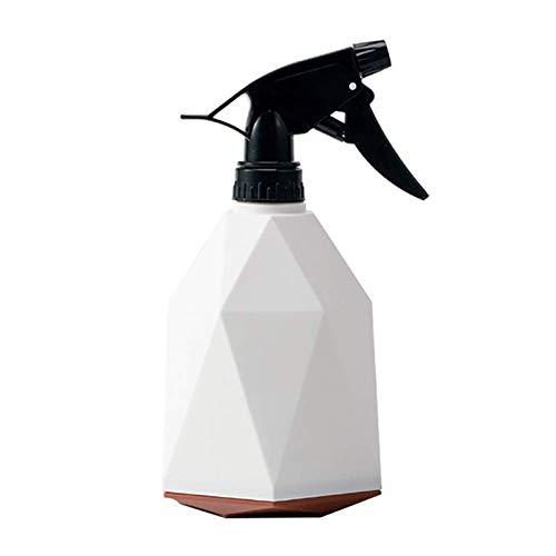YuuHeeER Mister botella de spray de plástico 600 ml blanco interior planta riego puede rociador de agua fino peinado