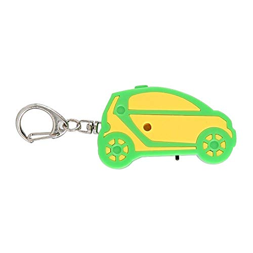 Key Finder, ABS Material Whistle Triggered Voice Alarm Key Loss, Wallet, Children, Pet Tracker (car)(Green and yellow)