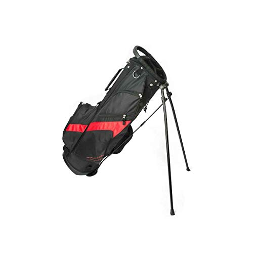 Merchants of Golf Tour X SS Golf Stand Bags-Black/Red, One Size (39300)