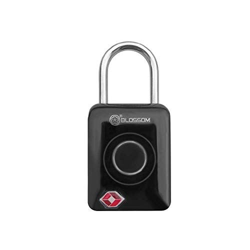 HLJ Candado de Huellas Digitales, Inteligente sin Llave Digital contraseña TSA Aprobado táctil de Cierre a Prueba de Agua for el Recorrido Bolsas de Equipaje Maletas Carga USB (Color : A)