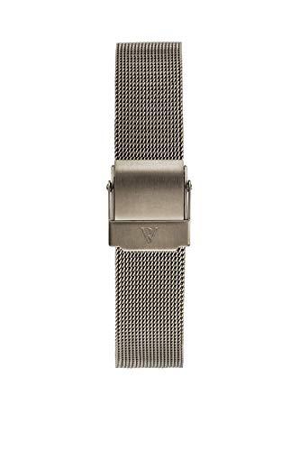 PAUL VALENTINE ® Uhren-Armbänder für Deine individuelle Uhr - In vielen Damenuhr (Khaki Mesh Strap 1