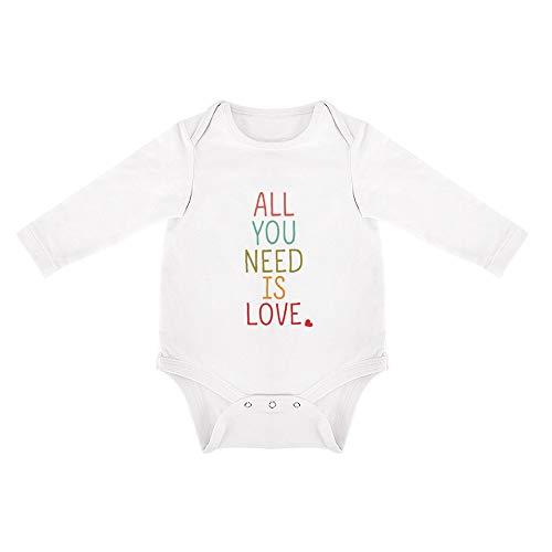 DKISEE Mono de bebé de algodón suave, de manga larga, triangular, mono de bebé de 0 a 24 meses Blanco Patrón 14 18 meses