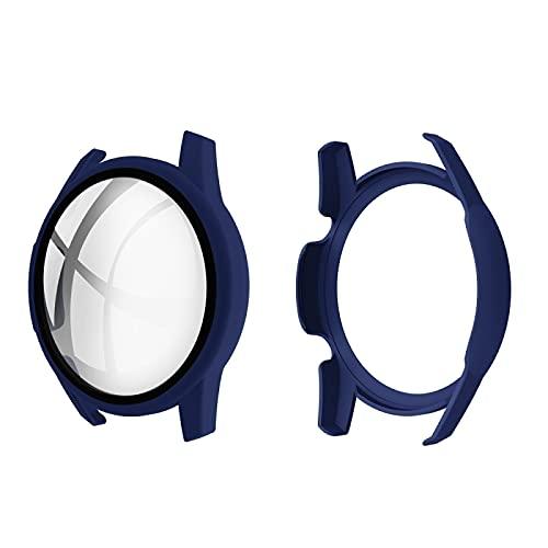 BZN Smart Watch Case per Huawei Watch GT2 46mm Shell PC iniettata iniettata + Guscio di Vetro temperato 9h Pellicola Protettiva Integrata (Color : Midnight Blue)