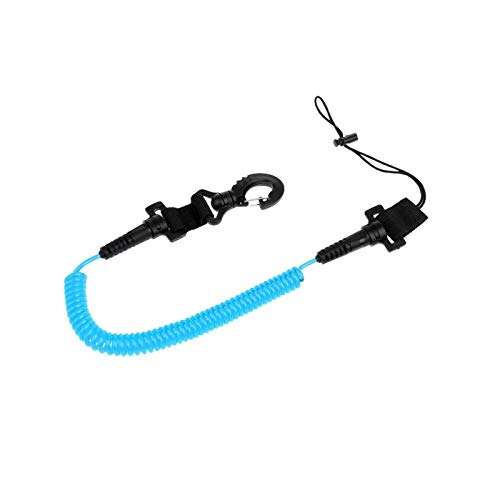 lifebea Mini Tabla de Surf Tablero de Surf Correa Kayak Bobina Cordillo Accesorios de Buceo Cuerda de cordón Azul/Rojo/Amarillo (Color : Blue)