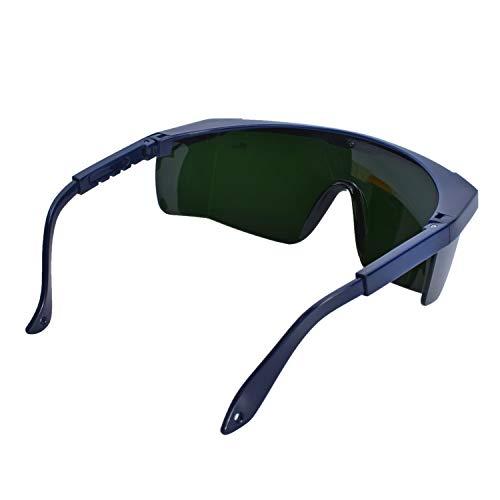 Mufly Schweißerbrille Schweißer Sicherheitsbrillen,klappbar,Anti-Flog,Anti-Shock,Blendschutz,Schutzgläser für Schweißer mit transparenter und schwarzer Brille(IR5.0) - 7