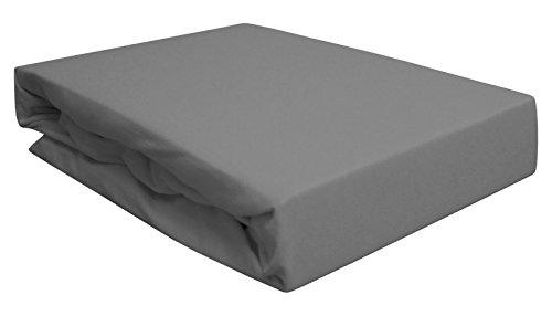 Arle-Living Spannbettlaken für Wasserbett/Boxspring/Übergrößen 180-200x200-220 cm Grau (grau/Gray/gris)