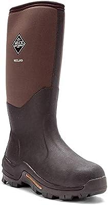 Muck Men's Wetland Premium Field Rubber Boots, Tan/Bark, 11D (Medium)