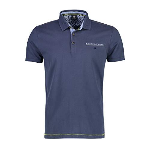 LERROS Herren Polo BTN Jersey Poloshirt, Blau (Vintage Blue 474), X-Large (Herstellergröße:XL)