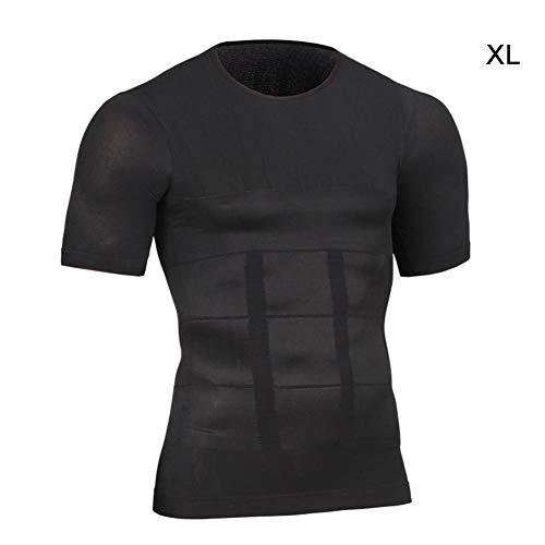 Jinclonder Naadloze bodys voor mannen abdominaal fitness kleding korset panty hardlopen jogging sportvest zacht en comfortabel, vol elasticiteit vet verbranden