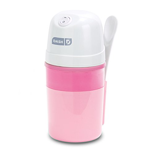 Dash My Pint Electric Ice Cream Maker Machine for Gelato, Sorbet + Frozen Yogurt with Mixing Spoon & Recipe Book (Organic, Sugar Free, Flavored Healthy Snacks + Dessert for Kids & Adults) 0.4qt - Pink