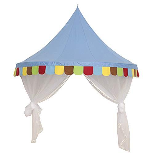 Tubayia Princesse Castle Tente de Jeu pour Enfant Moustiquaire, Bleu, S