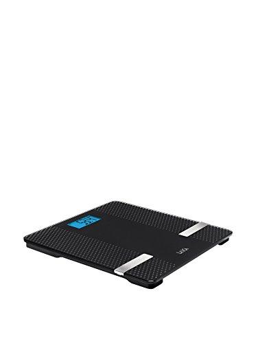 Laica PS7002 Báscula de baño con tecnología Bluetooth que pasa los datos, peso, % grasa, % agua, % músculo, a una APP, color Negro, 180 kg