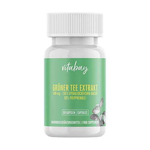 Grüner Tee Extrakt - EGCG - 1000 mg - 90 Kapseln - Fettverbrennung - Energie - Konzentrationsfähigkeit - Gewichtsreduktion
