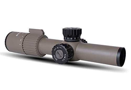 Monstrum G3 1-4x24 First Focal Plane FFP Rifle Scope with Illuminated BDC Reticle   Flat Dark Earth