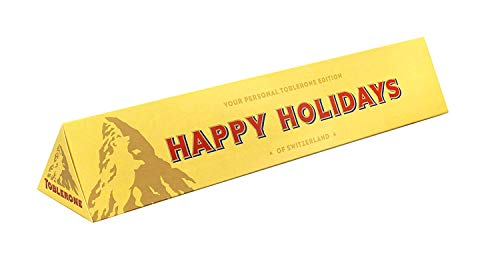 Toblerone Personalized Holiday Swiss Milk Chocolate Bar, 12.6oz