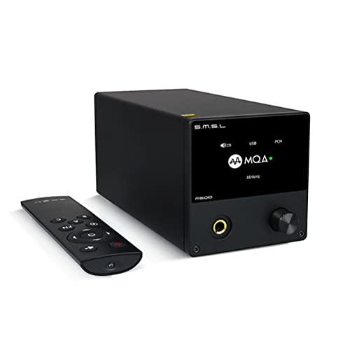 S.M.S.L. M500 MQA Amplificatore per cuffie audio DAC ES9038PRO DSD512 32bit/768kHz XMOS XU-216 Amplificatore DAC USB HiFi (Nero)