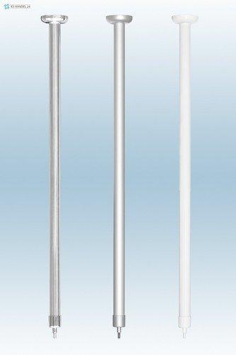 Aluminium deckenh vieillissement Extra Longue 120 cm. Pour Tringle d'angle Argenté mat barre de douche barre de rideau de douche Argenté mat Barrière sans. Under seiling of Corner Rod.