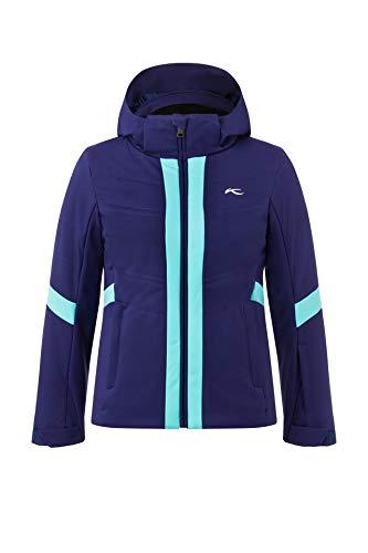 KJUS Girls Marscha Jacket Blau, Damen Regenjacke, Größe 128 - Farbe Into The Blue - Mystic Sea