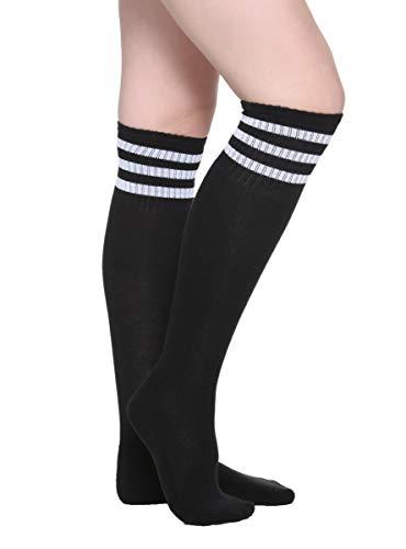 Black & White Cushioned Knee-High Socks BLACK One Size