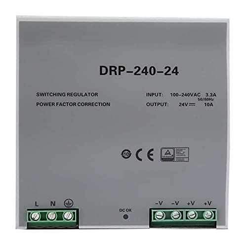 Shell Hollow Design 240W monofásico refrigeración automática DIN Rail fuente de alimentación 24V AC/DC fuente de alimentación conmutada para equipos de iluminación