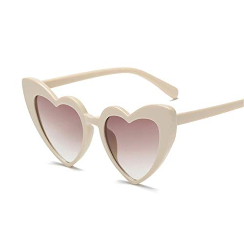 FRGH Gafas De Sol con Forma De Corazón De Amor para Mujer, Bonitas Y Sexis, Retro, Ojo De Gato, Gafas De Sol Baratas, Negras, Rojas, para Mujer, Uv400