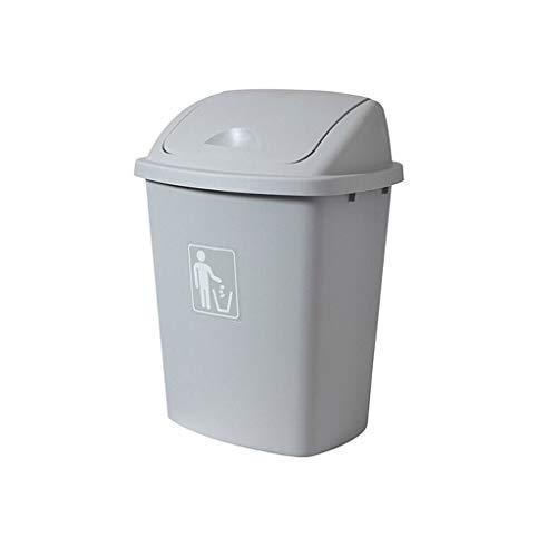 Xiaoli Cubo de Basura Bote de Basura de Gran Capacidad de 65L Puede Cubrir el Bote de Basura al Aire Libre Hogar de Cocina Aula de Basura Papeleras (Color : Gray, Size : 65l)