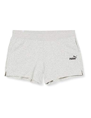 PUMA Damen ESS Sweat Shorts TR Hose, Light Gray Heather, M
