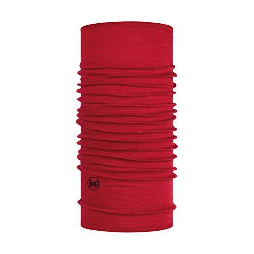 Buff Solid Tour de cou laine mérinos lightweight Rouge FR : Taille Unique (Taille Fabricant : Taille One sizeque)
