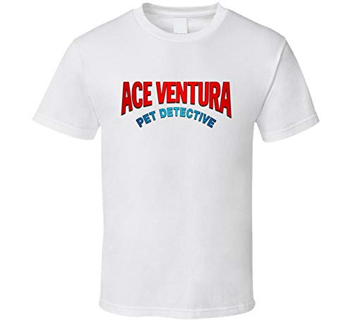 Ace Ventura Pet Detective Logo Tee Cool Movie Disfraz de Halloween camiseta blanca