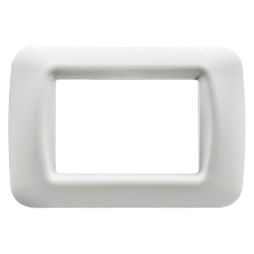 Gewiss 22503 Placca, Serie System, a 3 Posti, Bianco