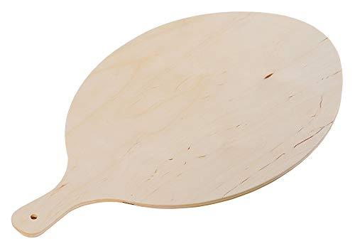 KESPER 68206 Flammkuchenbrett aus mehrfach verleimten Birkenholz, naturbelassen / 38 x 30 x 0,8 cm/Pizzabrett