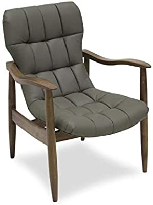 Amazon.com: Hebel Fabric Accent Chair with Wood Legs   Model ...