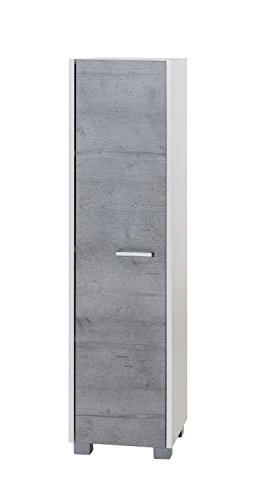 Schildmeyer Laif Highboard, Holz, Weiß, Steingrau, 30 x 30.2 x 120.2 cm
