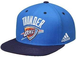 size 40 2b21c 879bd adidas NBA unisex OKC thunders logo baby blue navy visor 2tone snapback hat  cap