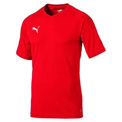 Puma Herren LIGA indoor Jersey Pro Trikot, Red White, S