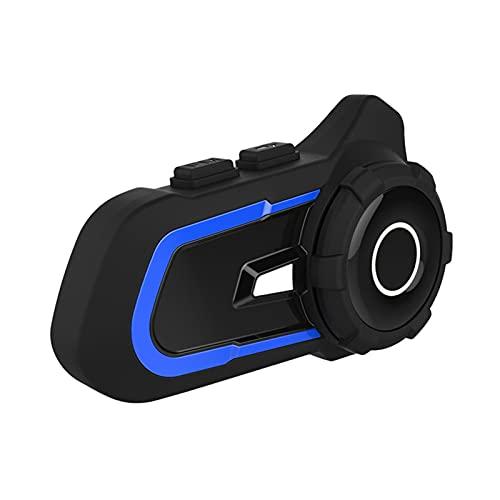 KKmoon Auriculares Moto Casco BT Intercomunicador Casco Moto Impermeable con Radio FM Llamadas Manos Libres Comando de Voz Reducción de Ruido Auriculares Manos Libres para Casco Moto