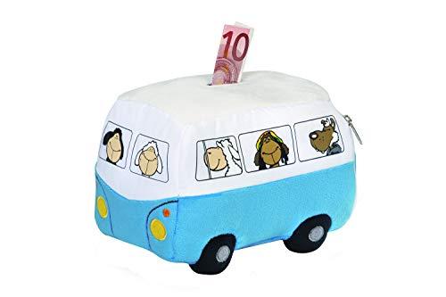 Nici 31908 Plüsch Spardose Bus 17cm x 12cm x 10cm blau