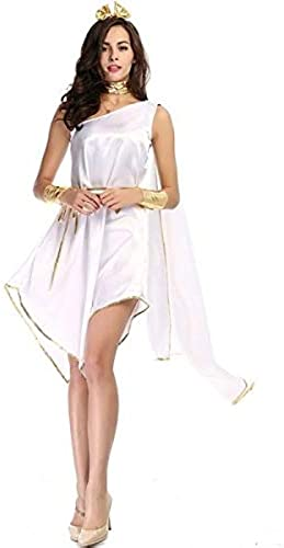 Short Grecian Goddess Fancy Dress Costume- UK 8-10