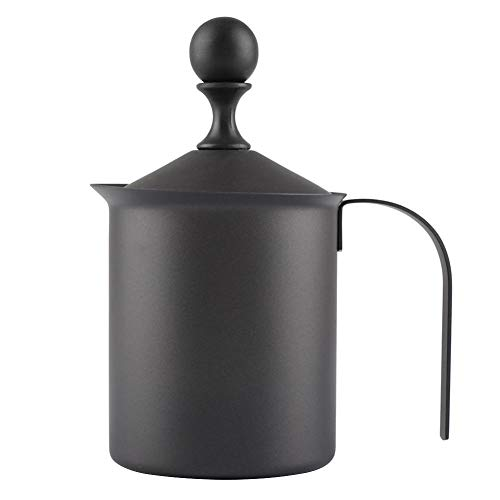 KSTE Edelstahl-Handbuch Doppel Mesh-Milchaufschäumer Schaum-Maschine Kaffee-Dekoration-Werkzeug (800 ml)